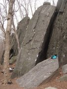 Rock Climbing Photo: Buckets of Blood Arete is the right leaning arete ...