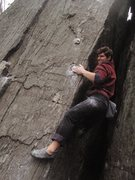 Rock Climbing Photo: Dan Hickstein pulling hard on Buckets of Blood Are...