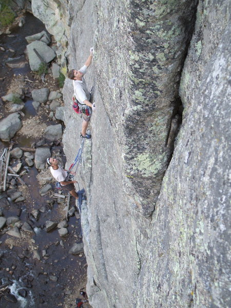 Rock Climbing Photo: Climbers on Earth Voyage's 3rd pitch. Photo: Bob H...