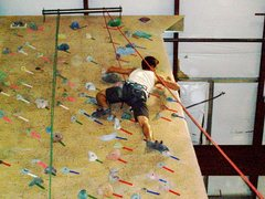 Rock Climbing Photo: climbing 5.12 indoor