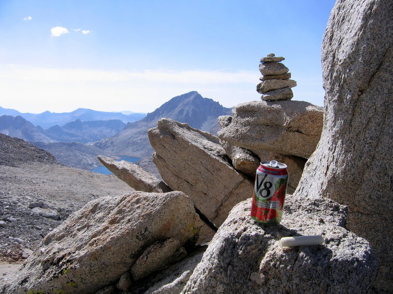 Rock Climbing Photo: Lunch of champions. In the notch that leads to the...
