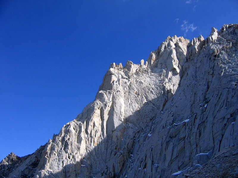 N Arete, viewed from the descent (looking SE)