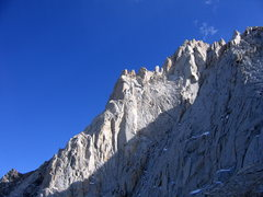 Rock Climbing Photo: N Arete, viewed from the descent (looking SE)