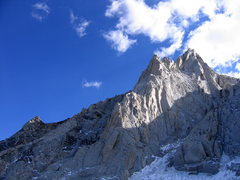 Rock Climbing Photo: The N Arete lit from the west.