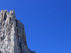 Rock Climbing Photo: Climbers on the N Arete as seen from the NE Ridge.