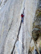 Rock Climbing Photo: The second, crux pitch of China Doll.  Photo: Bob ...
