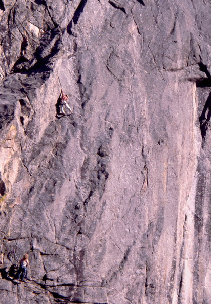 Climbers on Divination; photo: Bob Horan Collection.