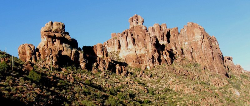 Rock Climbing Photo: Bark's Canyon Wall on the far right and other unna...