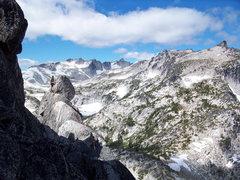 Rock Climbing Photo: Traversing along the ridge.
