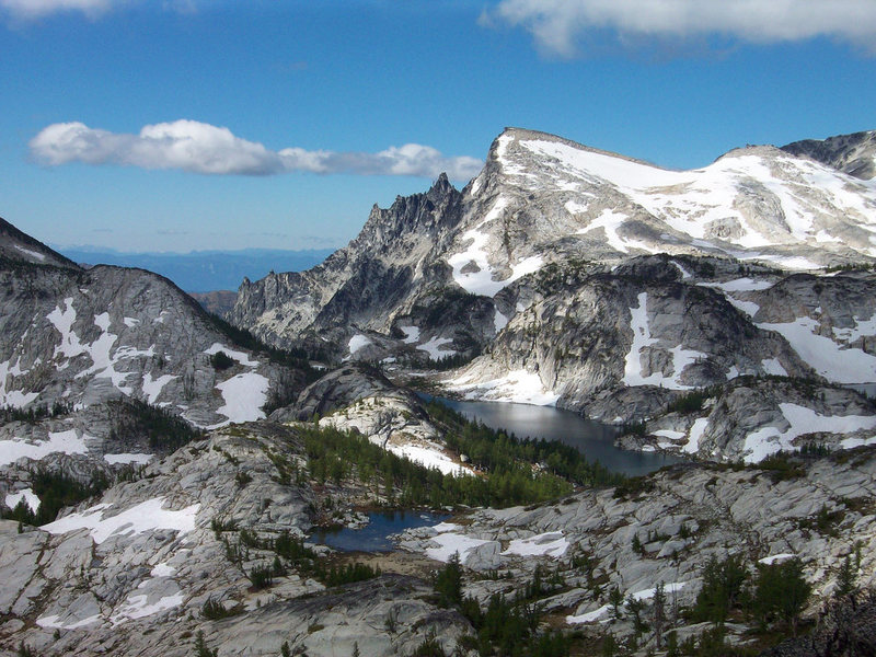 Looking out into the Enchantments from the base of the route.
