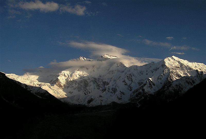 Rock Climbing Photo: Raikot Face of Nanga Parbat (the mountain is 30 km...