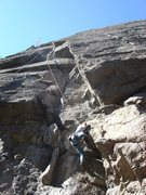 Rock Climbing Photo: warming up on this great route