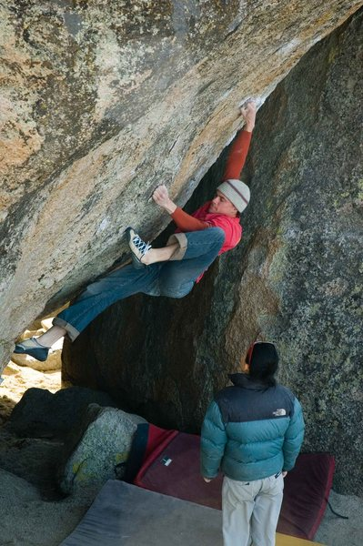 Rock Climbing Photo: MattNM moving from the sit start into the stand up...