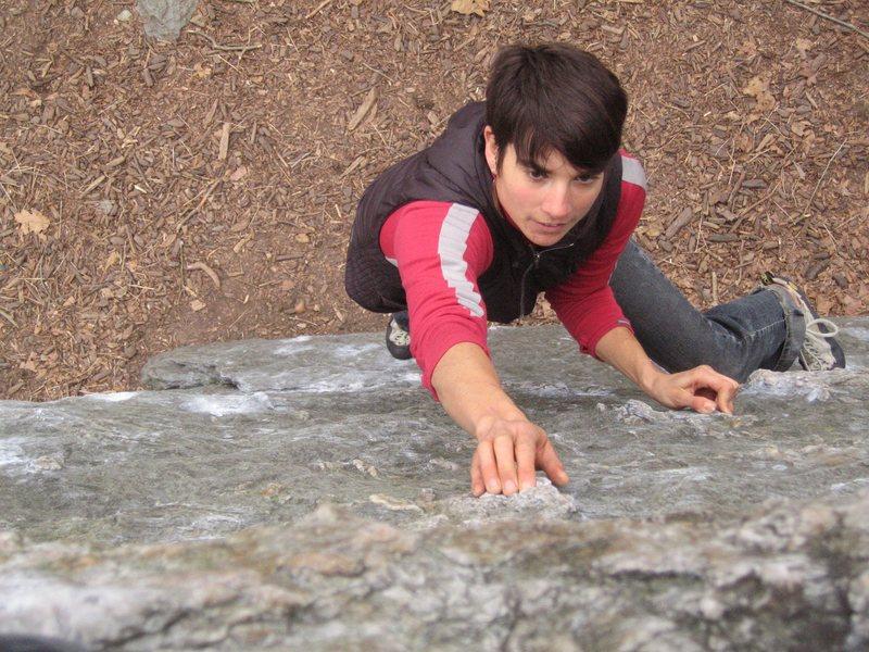 Rock Climbing Photo: The X-face provides over 2,600 eliminate slab boul...