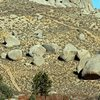 For most, the main attraction of the area:  The boulders that make up the eastern side of Buttermilks Main