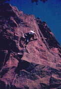 Rock Climbing Photo: Skip leading Superfly, photo: Bob Horan Collection...