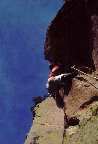 Rock Climbing Photo: Rufus Miller leading Silver Raven, photo: Bob Hora...