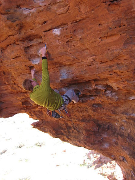 Rock Climbing Photo: higher on the .11b?  Just jugs with one or two cri...