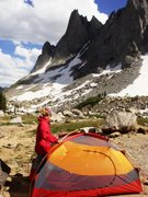 Rock Climbing Photo: Base Camp in the Wind Rivers