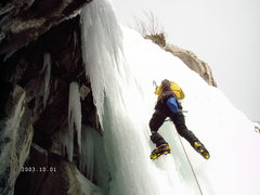 Rock Climbing Photo: Julian soloing the last pitch just outside of the ...
