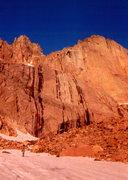 Rock Climbing Photo: Sunrise approaching The Diamond, photo: Bob Horan ...