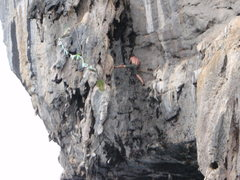 Rock Climbing Photo: Deep water stem 40ft up with no rope. its takes ba...