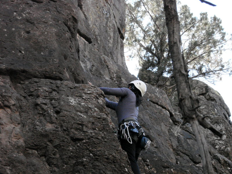 Rock Climbing Photo: my first sport lead Crawdad Canyon, Nov 2008
