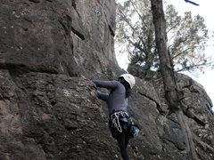 Rock Climbing Photo: my first sport lead Crawdad Canyon, Nov 2008