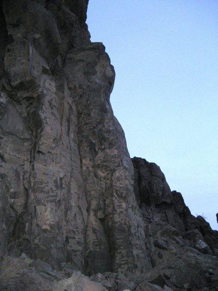"""Rock Climbing Photo: """"Recession Arete""""."""