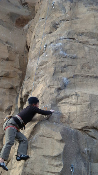 "Rock Climbing Photo: Mado working ""R A""."