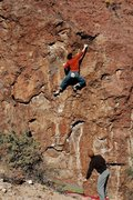 Rock Climbing Photo: At the top of the difficulties, photo by Linda Won...