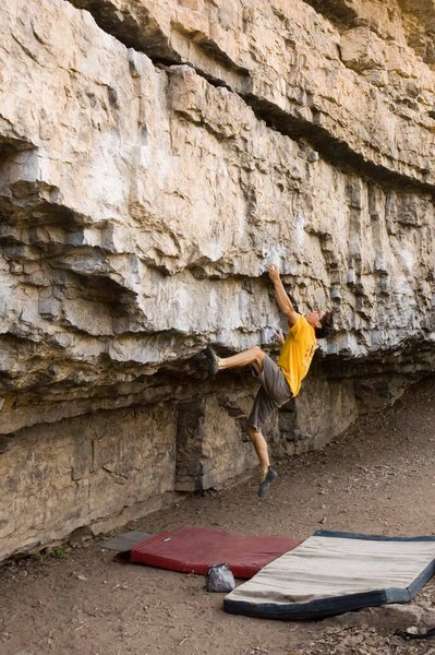 Rock Climbing Photo: Winding up for the last hard move, photo Chris E. ...