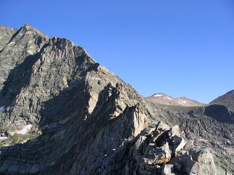 Meaty part of the Blitzen Ridge.