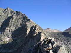 Rock Climbing Photo: Meaty part of the Blitzen Ridge.
