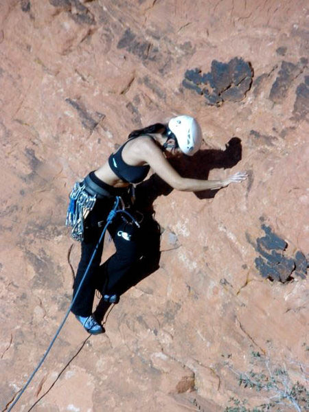 Rock Climbing Photo: starting onsight lead