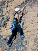 Rock Climbing Photo: my onsight lead