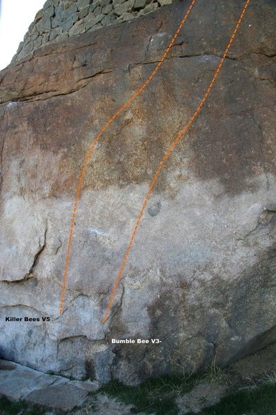 Rock Climbing Photo: Beehive Wall Center Right Topo