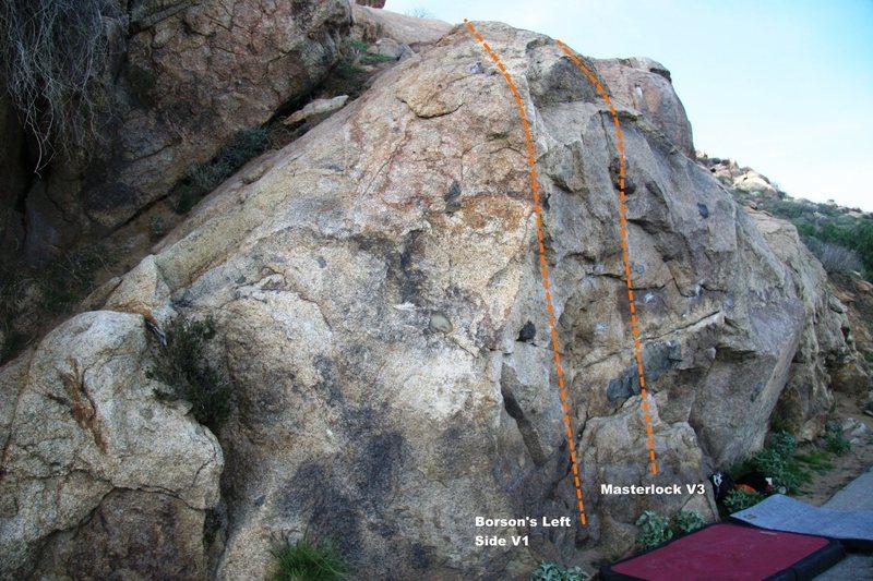 Rock Climbing Photo: Borson's Wall Left Topo