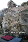 Rock Climbing Photo: Borson's Wall Center Left Topo