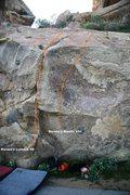 Rock Climbing Photo: Borson's Wall Center Right Topo