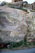 Rock Climbing Photo: Borson's Wall Right Topo
