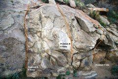 Rock Climbing Photo: Borson's Wall Far Right Topo