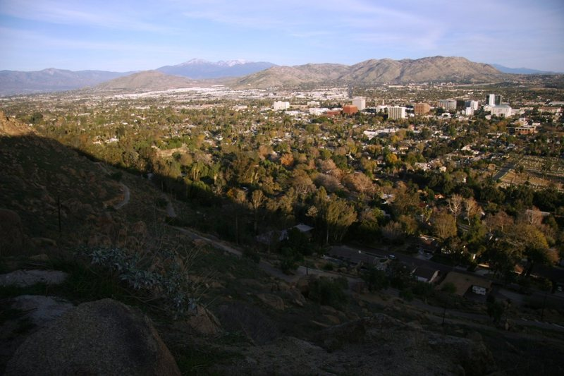 Rock Climbing Photo: Riverside and the mountains east from Mt Rubidoux