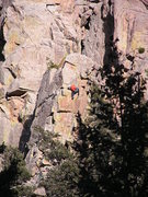 Rock Climbing Photo: Here is a shot of R.O.U.S. from the road. This man...