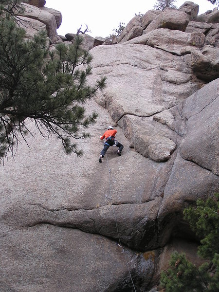 Rock Climbing Photo: Just past the crux....