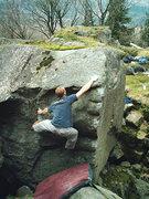 Rock Climbing Photo: Quinn Chevalier on Cross of Iron V3