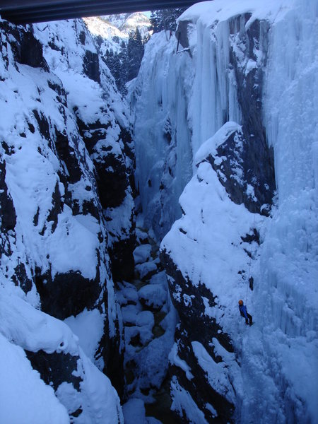 Rock Climbing Photo: Looking south from the first brige. Can you see th...