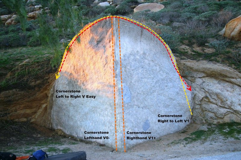 Cornerstone Boulder Topo