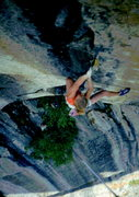 Rock Climbing Photo: Skip leading Tales of Power, photo: Bob Horan Coll...