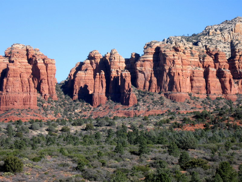 Rock Climbing Photo: Firecat stands out from a distance.  Just left of ...